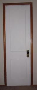 go through the door